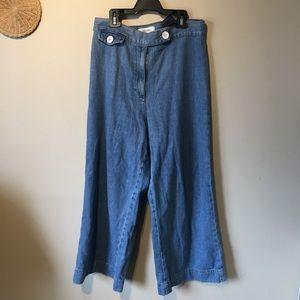 Zara woman's size 8 high waisted flare bottom pant